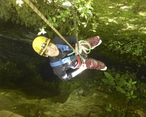 """""""Caving"""" in den Waitomo Glowworm Caves"""